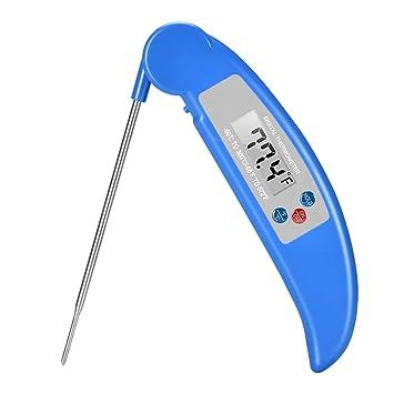 DaskFire plegable LCD comida digital termómetro de carne ultra rápido termómetro de cocina mejor para cocinar