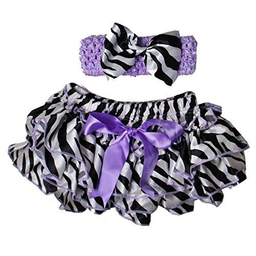 (Kirei Sui Baby Zebra Bloomers & Headband Set Lavender)