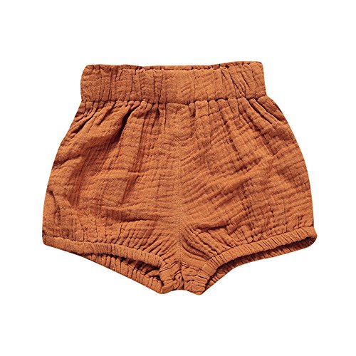 Birdfly Toddler Baby Basic Bloomers Diaper Cover Infant Boys Girls Bottom Shorts Cotton Clothes (18M, Brown) -