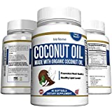 Organic Coconut Oil Soft Gels 1000 mg, Skin and Hair Supplement (60 Soft Gels, 30 Day Supply)