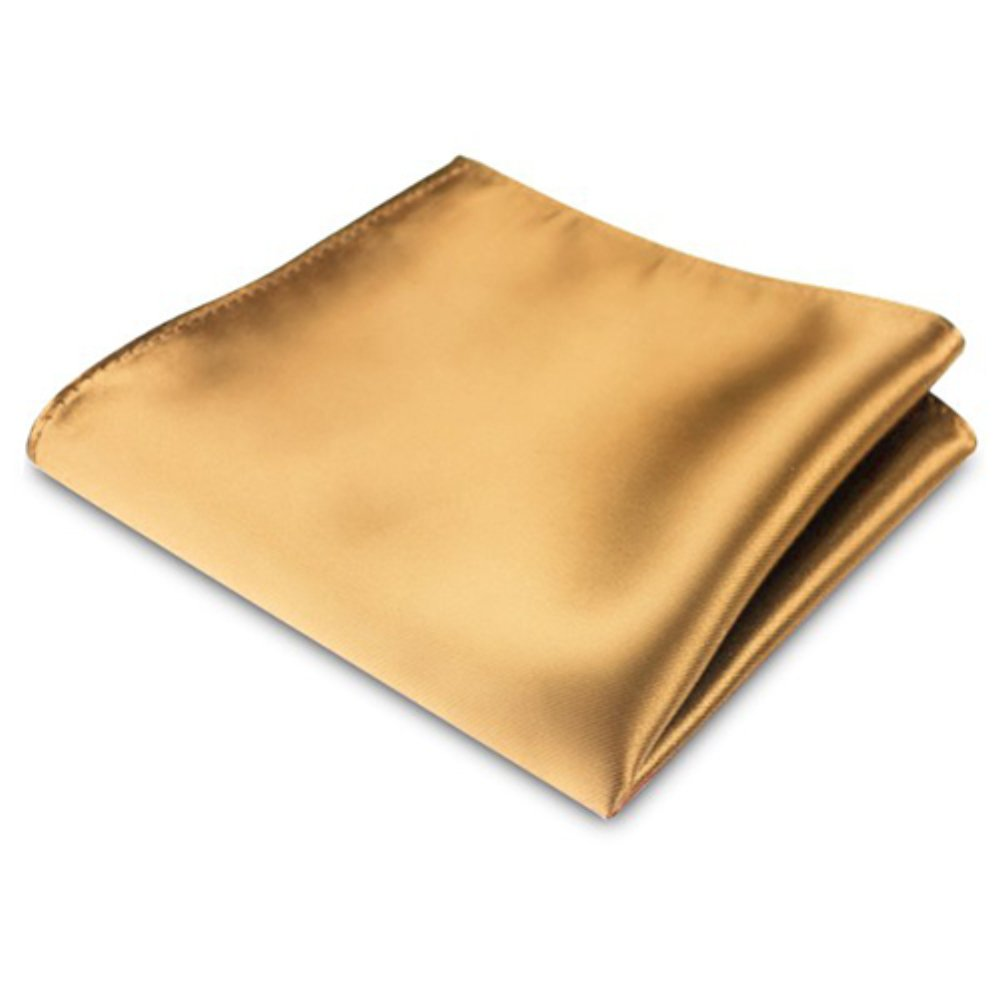 Yamalans Men's Satin Solid Plain Color Handkerchief Hanky Pocket Square for Wedding Party