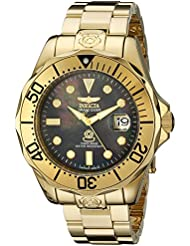 Invicta Mens 13940 Pro Diver Black Mother of Pearl Dial Gold Tone Bracelet Watch