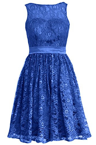 Bridesmaid Lace Dress Straps Party Blue Gown Short Royal Cocktail Formal Women MACloth XnRqxHww