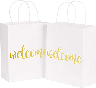Amazon.com: LaRibbon - Bolsas de regalo de bienvenida ...
