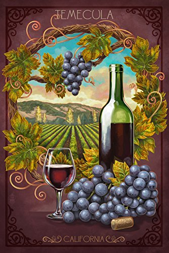 Temecula, California Merlot Wine Travel Poster