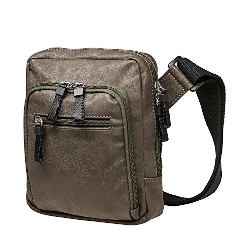 Jost Messenger Bag with zip S Cult Army [2] Marrone|multicolore
