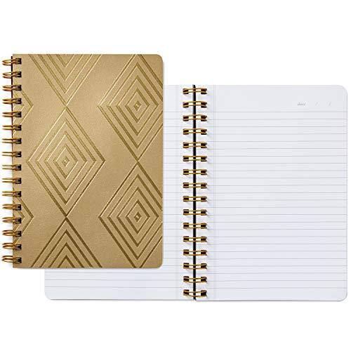 Hallmark Signature Gold Spiral Notebook (Gold Diamonds)