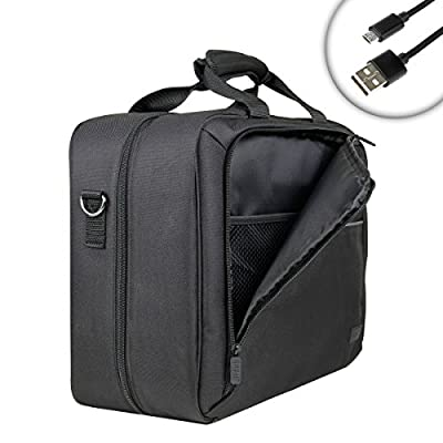 USA Gear Carrying Case for Mobile Printer Kodak Dock & Wifi Photo 4x6 , Mini Mobile Wifi & More - Shoulder Strap , Accessory Pockets , Customizable Interior - Fits Memory Cards , AC Adapter & More