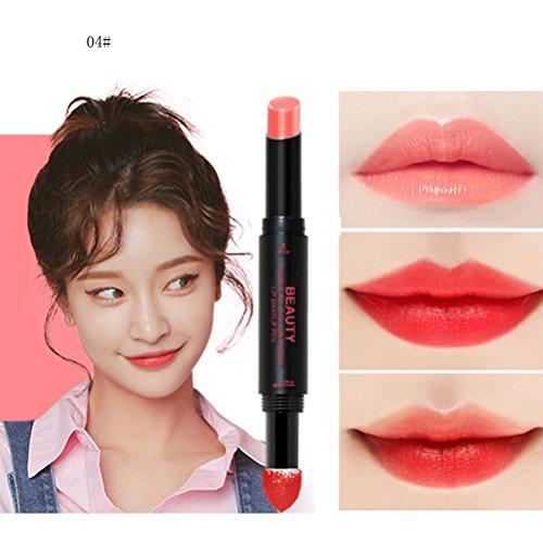 Hunputa Lipstick,Korean Dual Ended Long Lasting Waterproof L