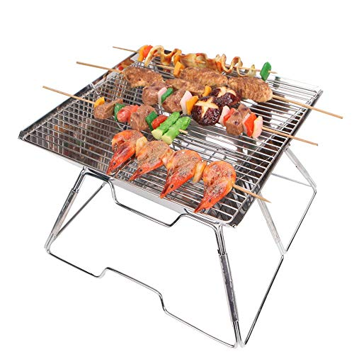 (yodo Portable Folding Tailgate Grill Charcoal Grill for Camping Roadtrip Backpacking Party)
