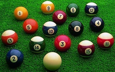 Spots & Strips Billiard Indoor Match Quality Pool Balls Set Of 16