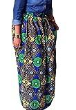 ARTFFEL-Women Casual High Waist Africa Print Big Hem Dashiki Maxi Skirts 3 3XS