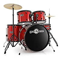 BDK-1 Full Size Starter Drum Kit by Gear4music Red