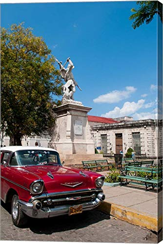 1957 Chevy car Parked Downtown, Mantanzas, Cuba by Bill Bachmann/Danita Delimont Canvas Art Wall Picture, Gallery Wrap, 31 x 48 inches
