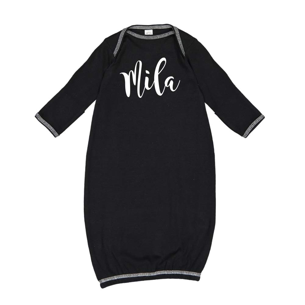 Personalized Name Baby Cotton Sleeper Gown Mashed Clothing Mila