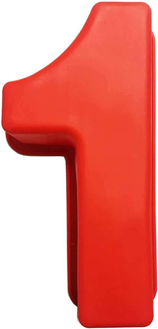 Red 1 First Birthday Birthday Number 13cm Large Number 1 Red Wooden Number 1