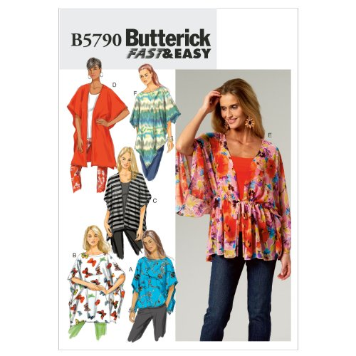 Butterick Patterns B57900Z0 Misses' Wrap Sewing Pattern, Cover-Up and Poncho, Size Z (LRG-XLG) ()