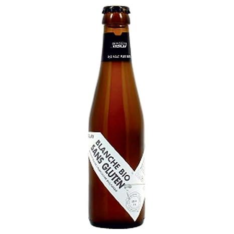 La cerveza blanca Orgánica gluten 4,4 ° 25 cl 25 cl: Amazon ...
