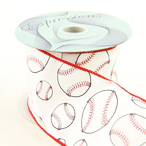 Craig Bachman Imports Wired Baseball Ribbon, 2.5