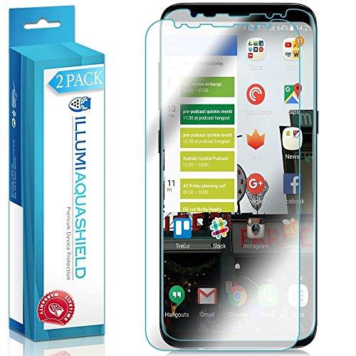 Galaxy S8 Plus Screen Protector (2-Pack, Case Friendly Updated Design), ILLUMI AquaShield Full Coverage Screen Protector for Galaxy S8 Plus HD Clear Anti-Bubble Film