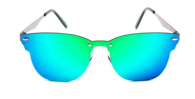 dff9b90651 Image Unavailable. Image not available for. Colour  Netra TheWhoop Stylish  New UniBody Lens Design Mirror Goggles Wayfarer Sunglasses For Men