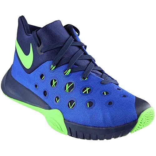 Nike Men's Zoom Hyperquickness 2015 Game Royal/Grn Strike/Mid Nvy Basketball Shoe 10.5 Men US