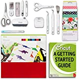 Cricut Maker Accessories Bundle Beginner Guide, Fabric Sampler, Pen, Felt, Tools, Sewing Kit