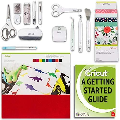 Cricut Maker Accessories Bundle Beginner Guide, Fabric Sampler, Pen, Felt, Tools, Sewing Kit