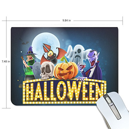 ALIREA Halloween Charaters Mouse Pads Non-Slip Rubber Backing Gaming Mouse Pad (Halloween Charaters)