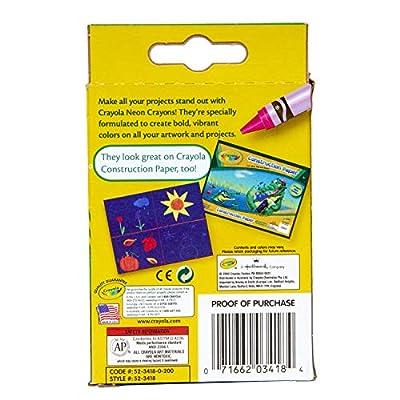 Crayola Neon Crayons, 8 Count: Toys & Games