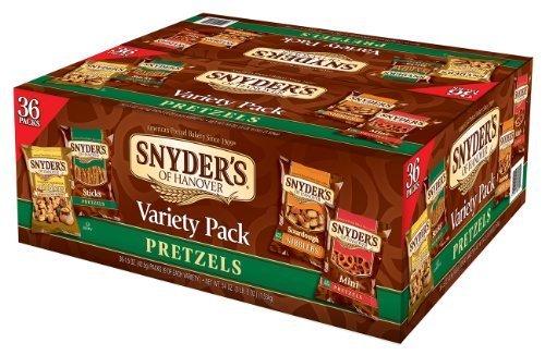 Snyder's of Hanover Pretzel Variety Pack, 1.5 Ounce, (Pack of 36) by Snyder's of - Hanover Mall
