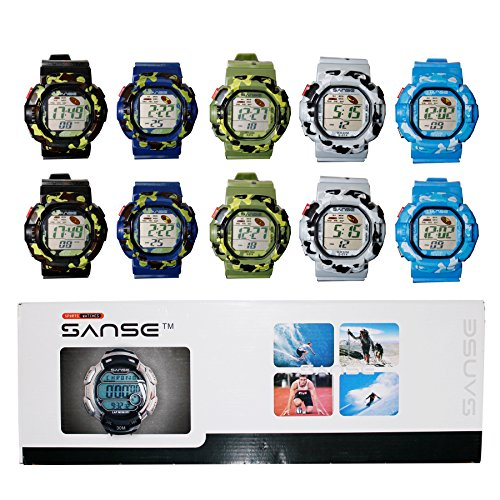 DIYJewelryDepot Sanse MEN'S Assorted Sports Camouflage Watch Multicolored - Multi Colored G Shock