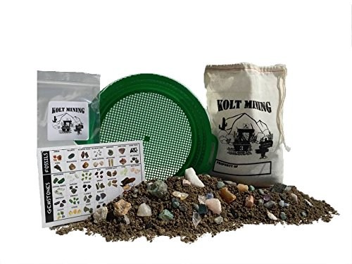 Emerald Bag of rocks, gems, and minerals mining rough activity dig kit -