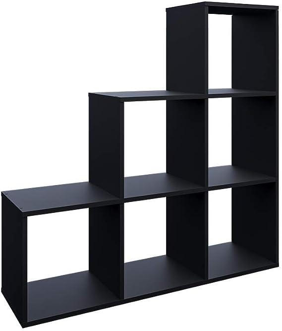 Vicco Librería Escalera Divisor 6 estantes 105 cm Negro: Amazon.es: Hogar