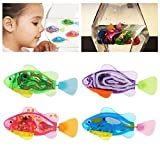 robots fish - NUOLUX 4pcs Robot Fish Swimming Electric Clownfish Battery Powered Toy(Random Color)