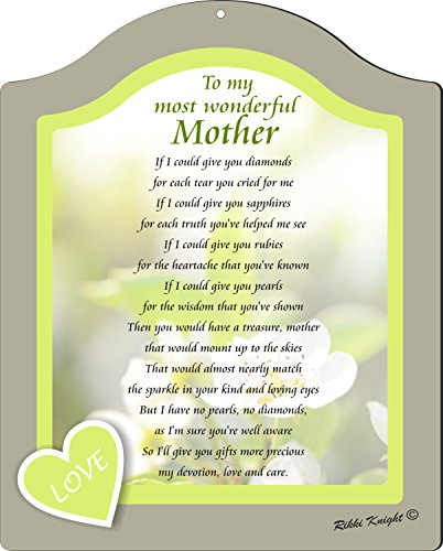 Rikki Knight To My Most Wonderful Mother Love Soft Green Floral