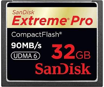 Sandisk Extreme Pro CompactFlash Card 90MB/s 32GB Memoria ...