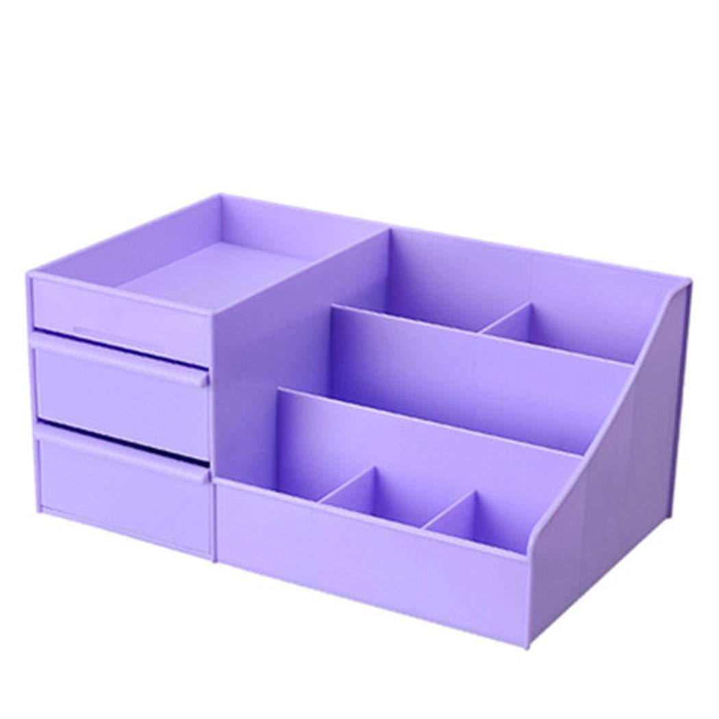 Lantusi Desktop Makeup Organizer Storage Box Cosmetic Container Case With Drawer Makeup Organizers