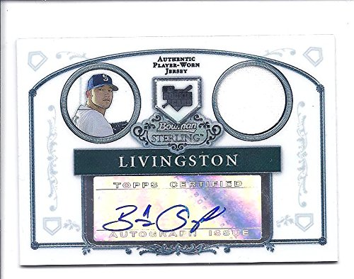 BOBBY LIVINGSTON 2006 Bowman Sterling Prospects #BL AUTOGRAPH JERSEY Rookie Card RC Seattle Mariners Baseball