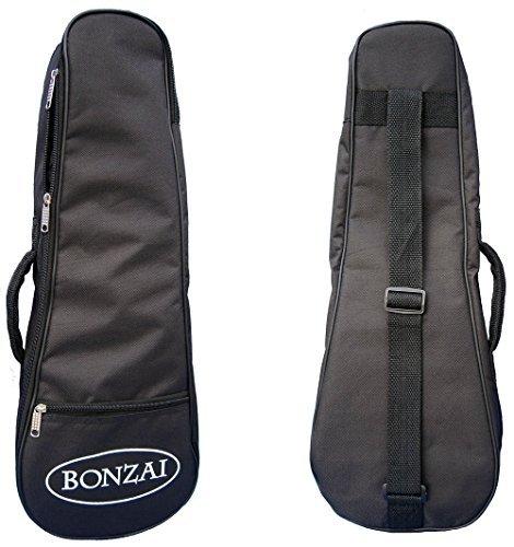 Bonzai Tenor Ukulele Gig Bag with 5mm Foam Padding - Black