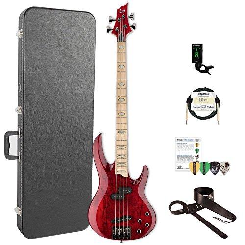 ESP LRB1004SMSTR-KIT-2 RB Series RB-1004SM STR 4-String Electric Bass, See Thru Red by ESP