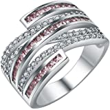 Fashion Women 925 Silver Topaz Gemstone Man Wedding Engagement (9)