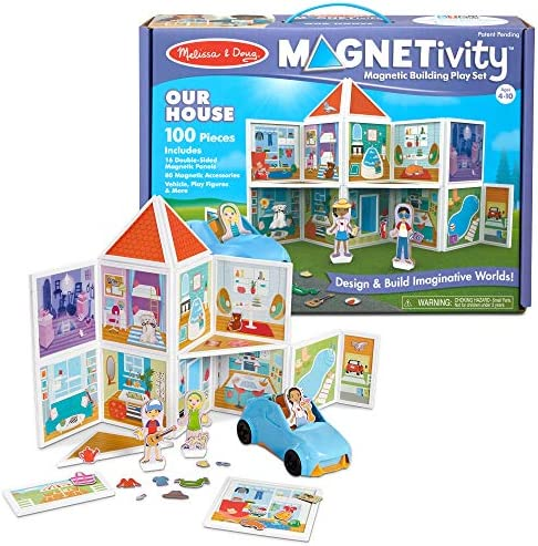 & Doug Magnetivity Magnetic Building Play Set ? Our HouseVehicle (100Piece)