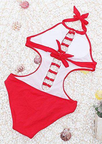 Frieda Fashion - Traje de una pieza - para mujer Rojo