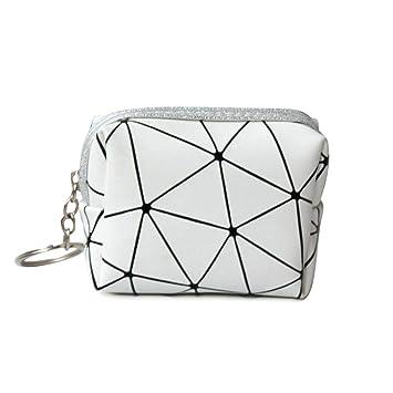 Volwco - Monedero para mujer, diseño geométrico, piel ...