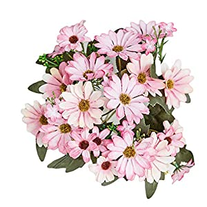 BLagenertJ 1Pc Artificial Daisy Imitation Flower Garden DIY Party Centerpiece Decoration for Wedding Holiday Home Pink 49