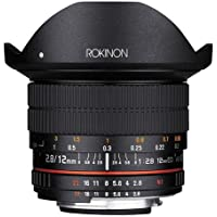 Rokinon 12mm F2.8 Full Frame Fisheye, Manual Focus Lens for Nikon F Mount with AE Chip