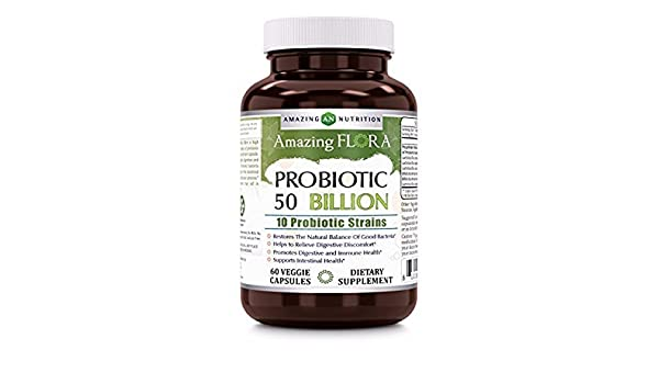 Amazing Flora Probiotic 50 Billion With 10 Best Probiotics Strains ...