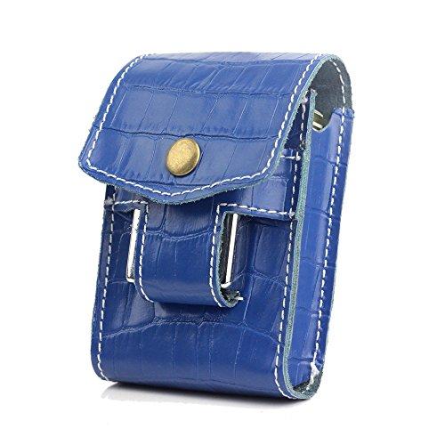 Unique Blue Waist Cigarette Case Pack Box Waist Belt With Lighter Holder For King Size&100's