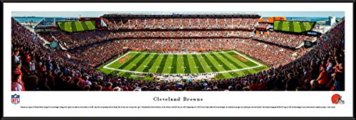 Cleveland Browns - 40.25x13.75-inch Standard Framed Picture by Blakeway Panoramas